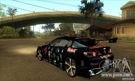 Mazda RX8 Slipknot Style für GTA San Andreas zurück linke Ansicht