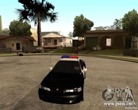 Honda Integra 1996 SA POLICE für GTA San Andreas Innenansicht