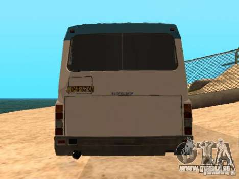 LAZ 52527 für GTA San Andreas zurück linke Ansicht