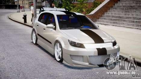 Opel Astra 1.9 TDI 2007 pour GTA 4 est une vue de l'intérieur