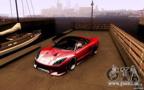 Honda NSX VielSide Cincity Edition pour GTA San Andreas laissé vue