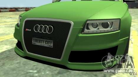 Audi RS6 Avant 2010 Stock für GTA 4 rechte Ansicht