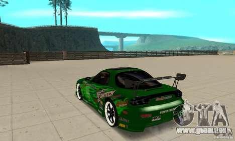 Mazda RX-7 ings für GTA San Andreas zurück linke Ansicht