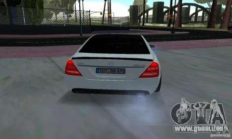 Mercedes-Benz S65 AMG Edition pour GTA San Andreas vue arrière