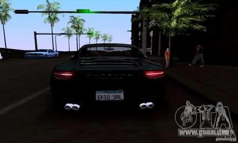 Porsche 911 Carrera S für GTA San Andreas Unteransicht
