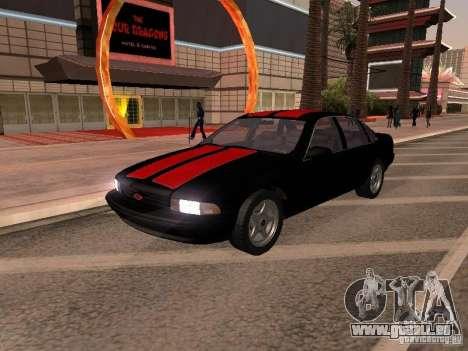 Chevrolet Impala SS 1995 pour GTA San Andreas vue intérieure