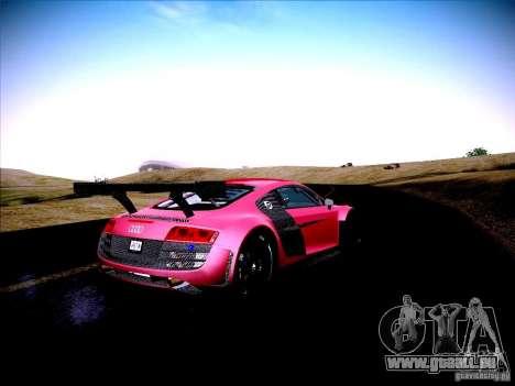Audi R8 LMS v2.0 für GTA San Andreas Rückansicht