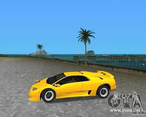 Lamborghini Diablo SV pour une vue GTA Vice City de la droite
