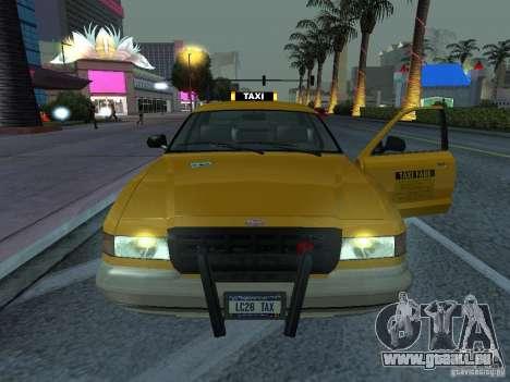 Un taxi de Gta IV pour GTA San Andreas sur la vue arrière gauche
