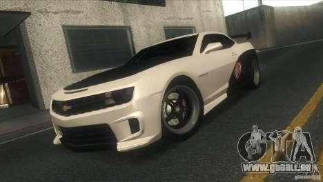 Chevrolet Camaro SS Dr Pepper Edition für GTA San Andreas Unteransicht