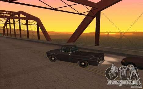 Chevrolet Apache Fleetside 1958 pour GTA San Andreas laissé vue