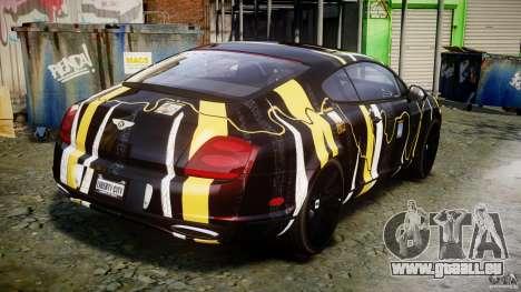 Bentley Continental SS 2010 Gumball 3000 [EPM] pour GTA 4 est une vue de l'intérieur