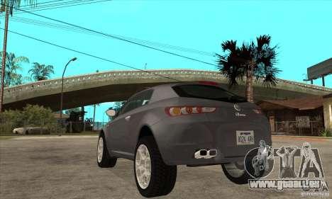 Alfa Romeo Brera du CNSA pour GTA San Andreas sur la vue arrière gauche