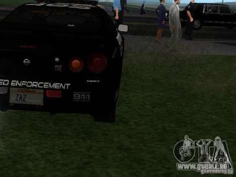 Nissan Skyline R34 Police pour GTA San Andreas vue de droite