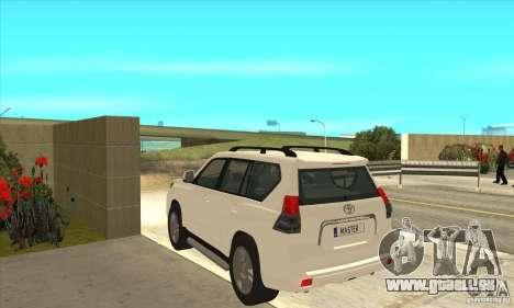 Toyota Land Cruiser Prado 150 pour GTA San Andreas sur la vue arrière gauche