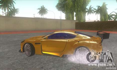 Aston Martin DB9 MW pour GTA San Andreas vue de droite