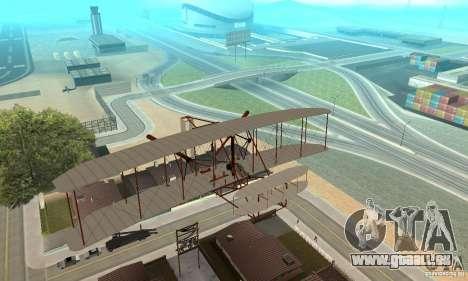 The Wright Flyer für GTA San Andreas Innenansicht