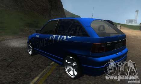Opel Astra Time Attack pour GTA San Andreas sur la vue arrière gauche