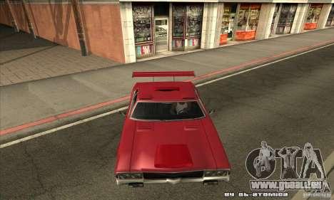Sabre Drift pour GTA San Andreas vue intérieure