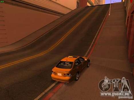 Lexus IS300 Taxi pour GTA San Andreas laissé vue