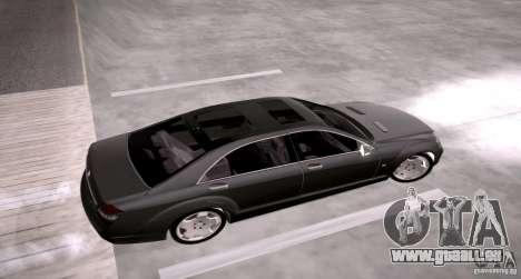 Mercedes-Benz S600 v12 pour GTA San Andreas vue de droite