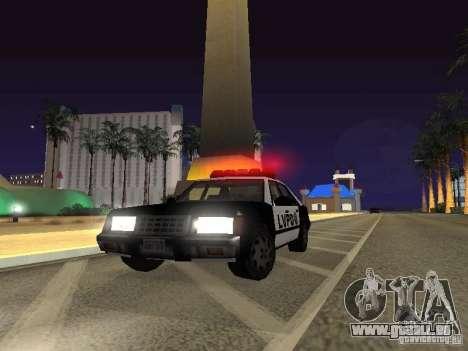 LVPD Police Car pour GTA San Andreas vue arrière