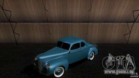 Ford Deluxe Coupe 1940 pour GTA San Andreas vue arrière