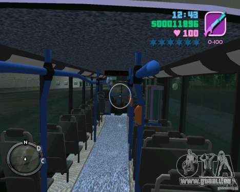 Marcopolo Bus pour GTA Vice City vue latérale