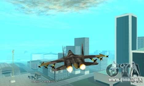 Su-37 Terminator pour GTA San Andreas vue intérieure