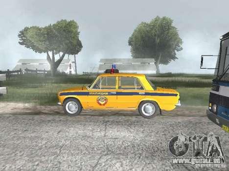 POLICE DE LA CIRCULATION VAZ 21016 pour GTA San Andreas sur la vue arrière gauche