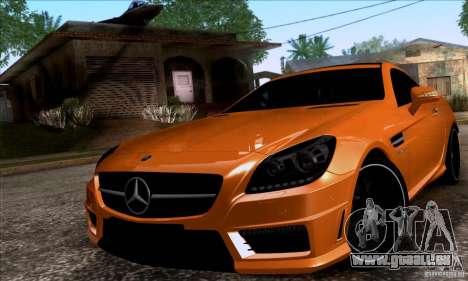 Mercedes Benz SLK55 R172 AMG für GTA San Andreas zurück linke Ansicht