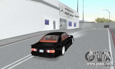 Mercedes-Benz C126 500SEC KS pour GTA San Andreas laissé vue