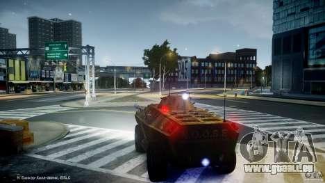Camo APC pour GTA 4 Vue arrière