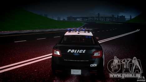 Ford Taurus Police Interceptor 2011 [ELS] für GTA 4 Innen