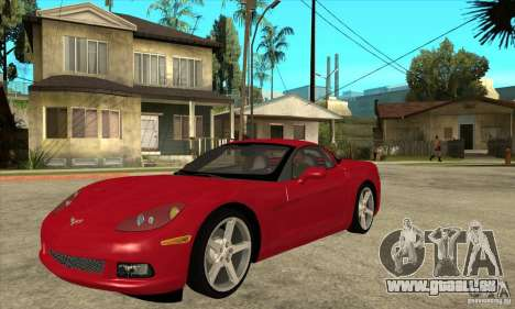 Chevrolet Corvette C6 Z51 - Stock für GTA San Andreas
