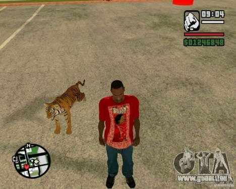 Tiger in GTA San Andreas für GTA San Andreas her Screenshot