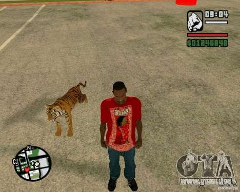 Tigre dans GTA San Andreas pour GTA San Andreas quatrième écran