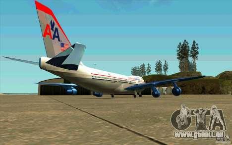B-747 American Airlines Skin pour GTA San Andreas vue de droite