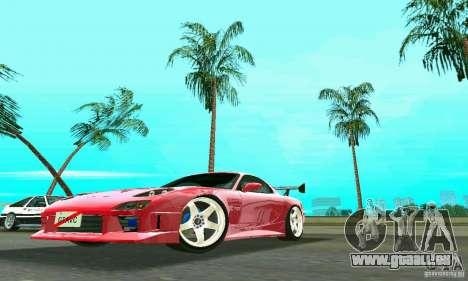 Mazda RX7 Charge-Speed pour GTA Vice City sur la vue arrière gauche