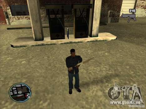 SA IV WEAPON SCROLL 2.0 für GTA San Andreas