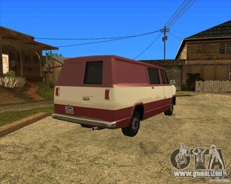 Transporter 1987 - GTA San Andreas Stories für GTA San Andreas zurück linke Ansicht