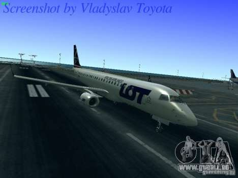 Embraer ERJ 190 LOT Polish Airlines für GTA San Andreas linke Ansicht