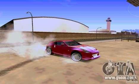 Nissan 370Z für GTA San Andreas Innenansicht
