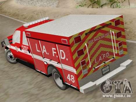 Ford F-350 Super Duty LAFD pour GTA San Andreas vue intérieure