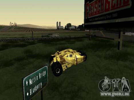 Army Tumbler v2.0 pour GTA San Andreas sur la vue arrière gauche