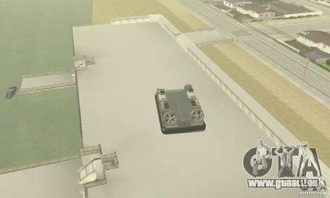Landing Craft Air Cushion für GTA San Andreas Rückansicht