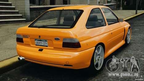 Ford Escort RS Cosworth pour GTA 4 Vue arrière de la gauche