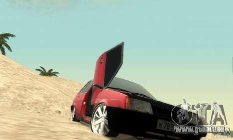 VAZ 2109 leichte Tuning für GTA San Andreas Seitenansicht
