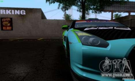 Nissan GTR R35 Tuneable pour GTA San Andreas salon