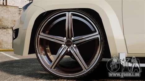Volkswagen Amarok Light Tuning pour GTA 4 Vue arrière